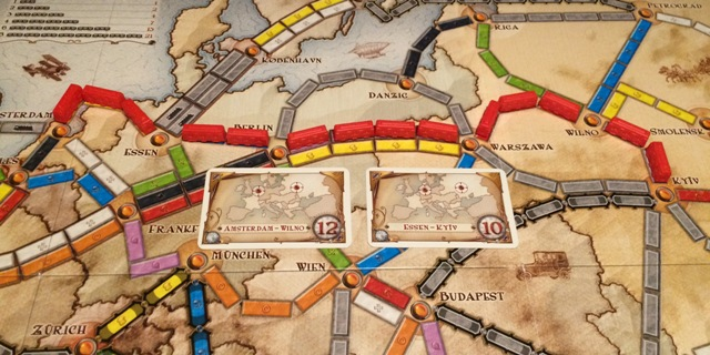 Ticket to Ride Tips: Houd overlappende bestemmingskaarten!