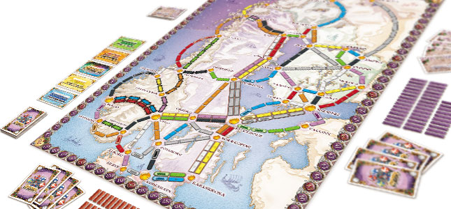 Ticket to Ride: Nordic Countries bord