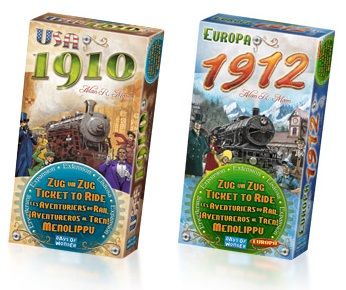 Ticket to Ride Versies: 1910 en 1912