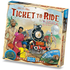 Ticket to Ride: #2 India & Switzerland