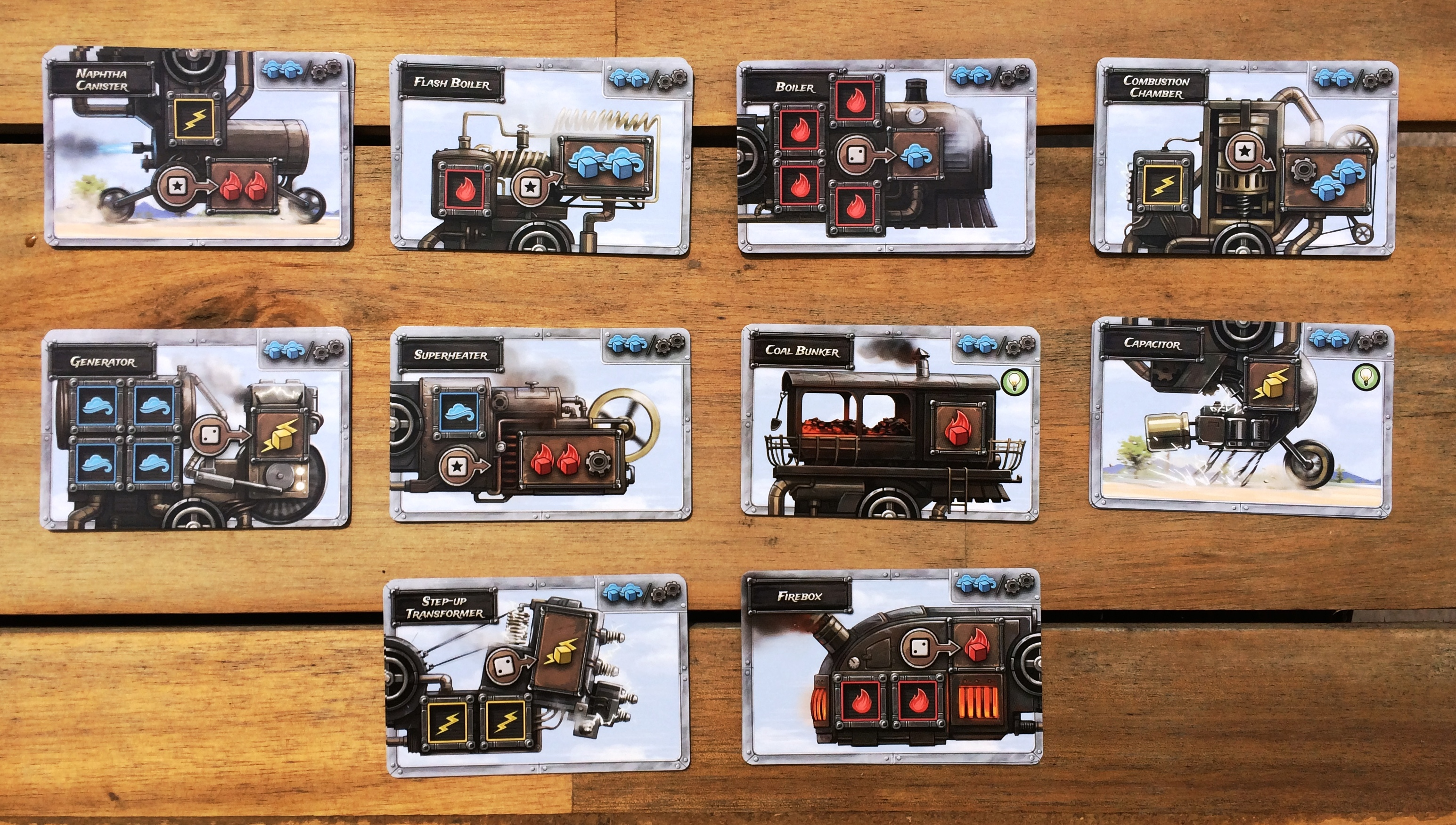 Steampunk Rally: Silver Machine Cards