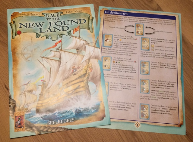 Race to the New Found Land: Spelregels en Bijlage