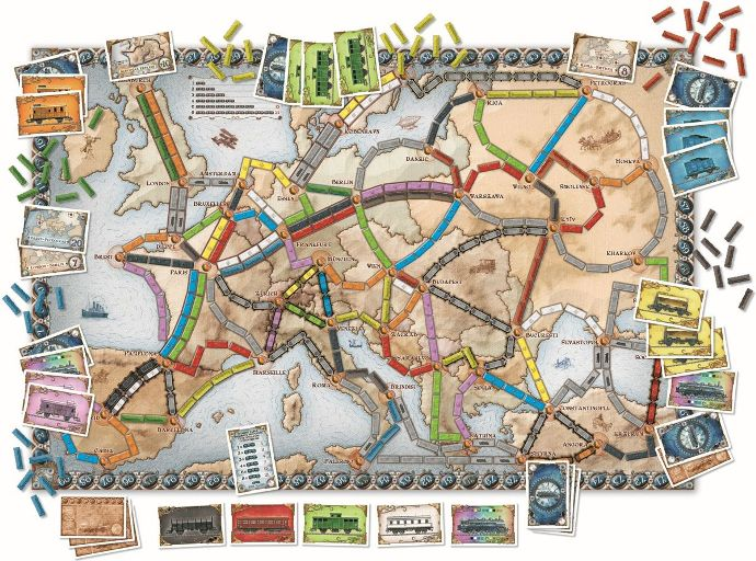 Kinderspel #13: Ticket to Ride Europe Inhoud