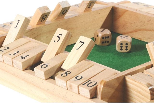 Shut the Box Dobbelsteen Spel Materiaal