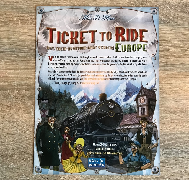 Ticket to Ride Europe: Spelregels