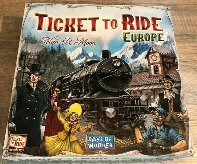 Ticket to Ride Europe: Voorkant van de Doos