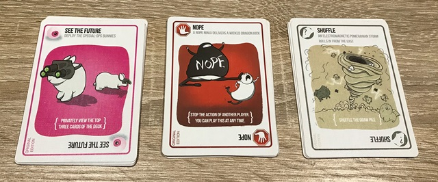Exploding Kittens Kaarten: See The Future, Nope & Shuffle
