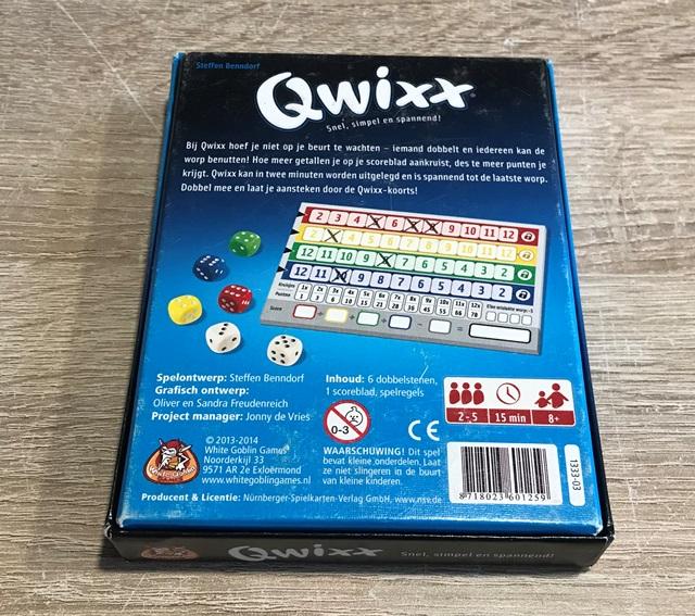 Qwixx Achterkant Doos