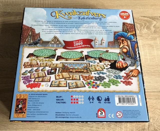 De Kwakzalvers van Kakelenburg: Achterkant Doos