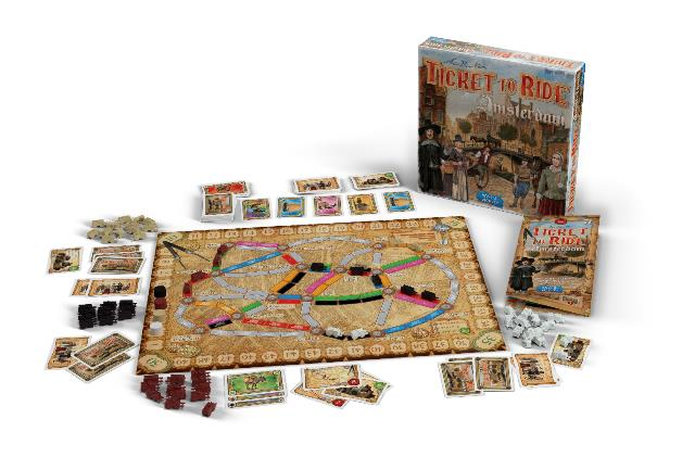 Ticket to Ride Amsterdam: Speelmateriaal