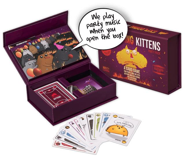 Exploding Kittens: Party Pack Speelmateriaal