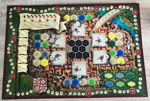 The Castles of Burgundy: Game Board 4 Players