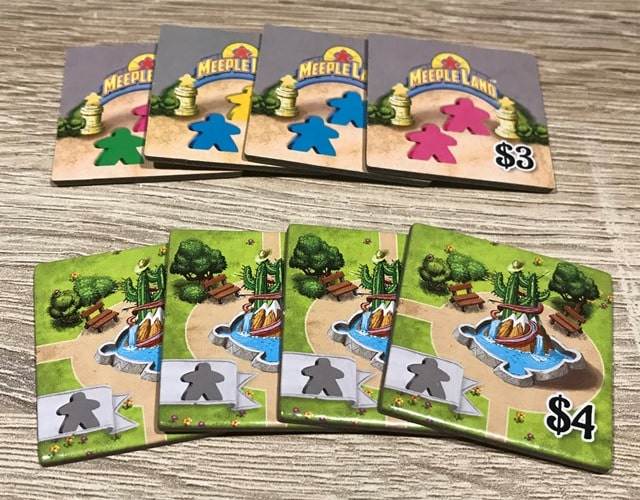 Meeple Land Bordspel: Kleine Fonteintegels