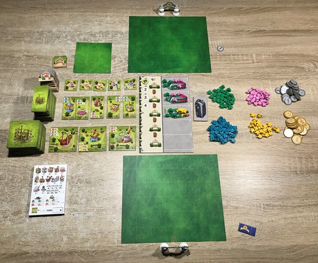 Meeple Land Bordspel: Startopstelling voor 2 Spelers