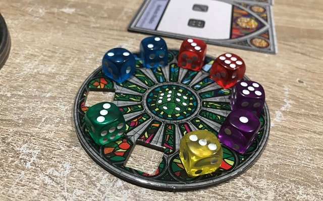 Sagrada 1e Uitbreiding Voor 5 & 6 Spelers: Dobbelstenen in Private Dice Pool