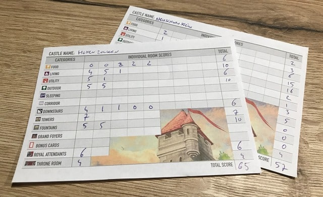 Between Two Castles of Mad King Ludwig: Scores