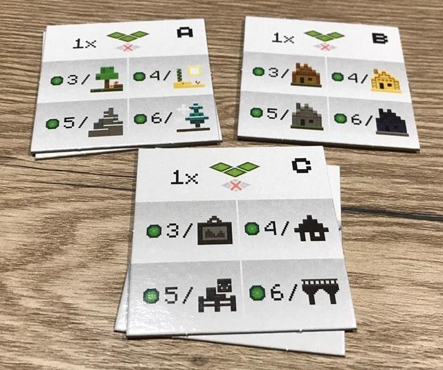 Minecraft Bordspel: Puntentellingen A, B en C