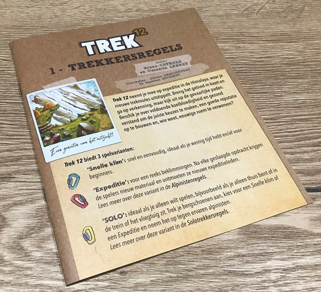 Trek 12 Spel: Spelregels (Trekkersregels)